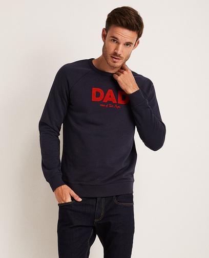 Donkerblauwe sweater 'DAD'